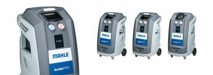 Each unit is fully automatic, so the machine can run virtually unattended to allow technicians extra time to perform other duties. A bright LED indicator light at the top of the unit comes on when the service is completed and is easily visible from afar.  - Photo courtesy of MAHLE Service Solutions