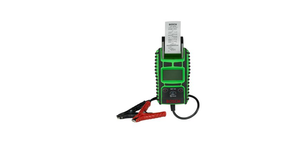 The BAT 135 battery tester with integrated printer is available now from tool dealers.