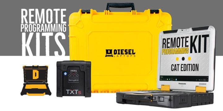 Diesel Laptops is currently offering six Remote Programming Kits available (Cummins, International, Isuzu, Mack and Volvo, CAT, and John Deere).  - Photo courtesy of Diesel Laptops