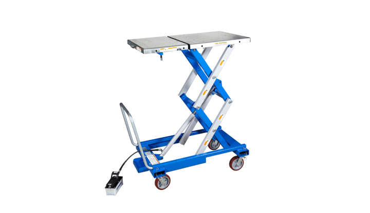 The sliding split table top design allows for separation of the engine and transmission assembly or the hybrid engine and generator module.  - Photo courtesy of OTC Tools