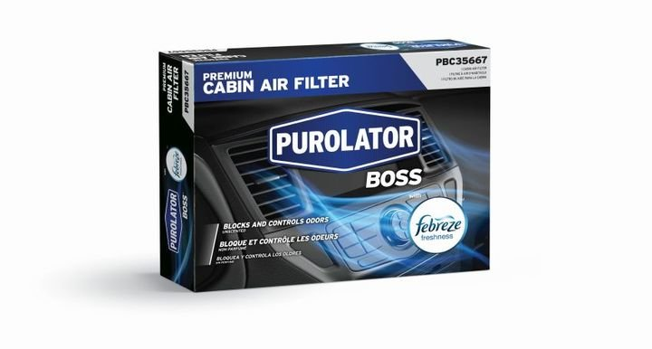 This advanced filtration solution provides the odor eliminating technology of Febreze with an antimicrobial layer that prevents mold, mildew and bacteria growth.  - Photo courtesy of Purolator