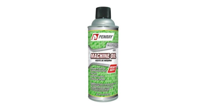 Penray Machine Oil has features that make it an excellent choice for a wide variety of applications. It is suitable for use in temperatures from zero degrees F to 450 degrees F, making it effective for use in both refrigerated and high temperature environments.  - Photo courtesy of Penray, Inc.