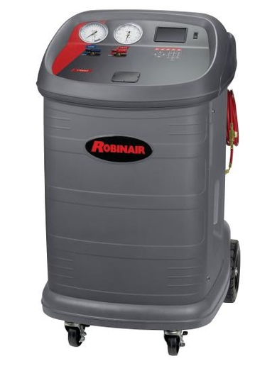 The Robinair 17800C contains maintenance counters to monitor cumulative amounts of refrigerant recovered and charged, as well as other machine operation variables.(Photo courtesy of Robinair)