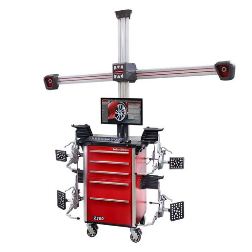 The John Bean V2380 Wheel Alignment System is an advanced imaging alignment system that does not require extensive training or experience to operate.