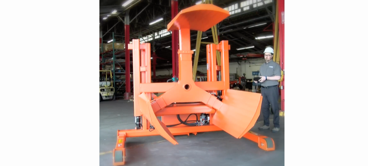One-person operation is made possible through the tethered control, which allows the operator to stand in the best vantage point for dialing in the proper position of the wheel for mounting.  - Photo courtesy of LiftWise