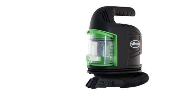Slime's Inflator & Vacuum 2-In-1 features a digital display and an auto shut-off at a set PSI.