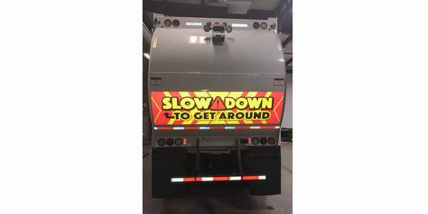 The SafetyFirst Prismatic Reflective caution decals include the familiar warning to Slow Down to...