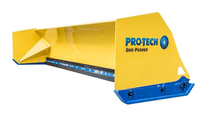 The Fusion Edge is an industry-first for containment snow plows, according to Pro-Tech,coming in 24-inchsections that consist of abrasion-resistant steel embedded directly into a rubber cutting edge.  - Photo courtesy of Pro-Tech