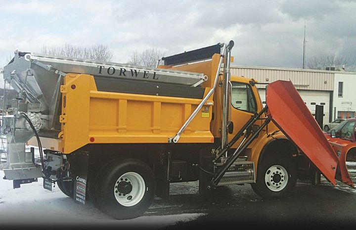 Torwel's commercial/municipal spreaders deliver constant spread patterns and efficient material delivery. 