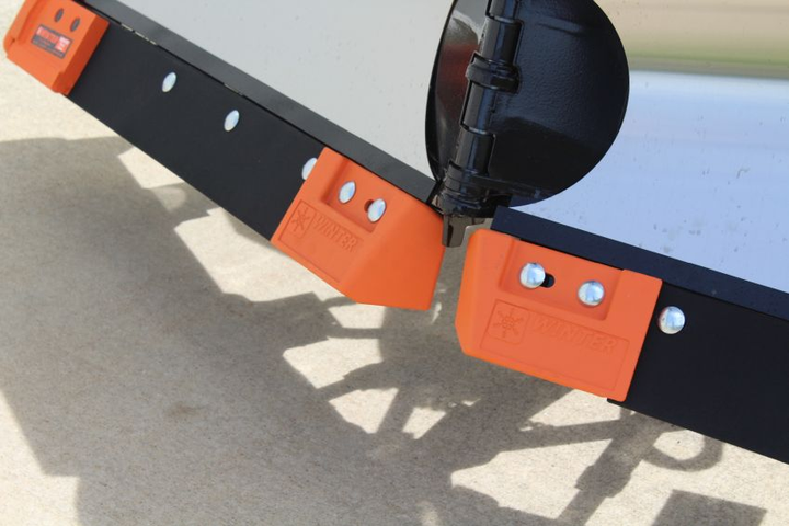 Winter's V-Plow Guard system is a complete system featuring steel blades, center and outer PlowGuards, hardware, and installation instructions.  - Photo courtesy of Winter Equipment