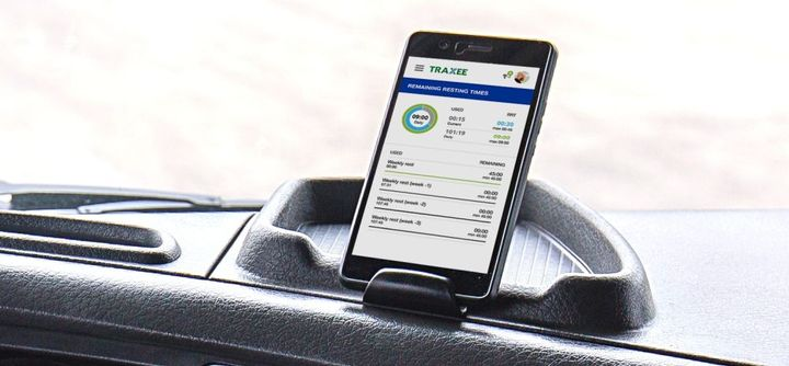 TRAXEE provides real-time status updates on individual trucks and driver.  - Photo courtesy of WABCO
