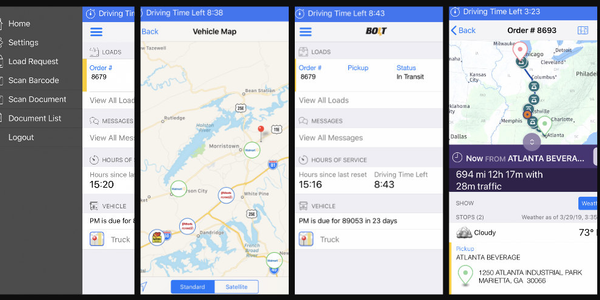Through Bolt Tandem Workflow, drivers are shown a map of their route to their delivery drop,...