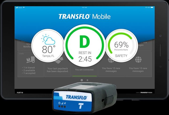 Transflo offers the Samsung Galaxy Tab A with data plans through AT&T and T-Mobile.  - Photo: Transflo