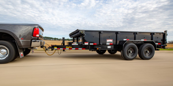The trailer's ultra-low 28-inch deck height allows for more ergonomic loading of materials...