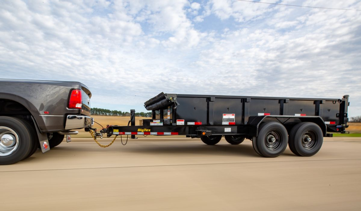 The trailer's ultra-low 28-inch deck height allows for more ergonomic loading of materials as well as a safer angle for loading equipment.