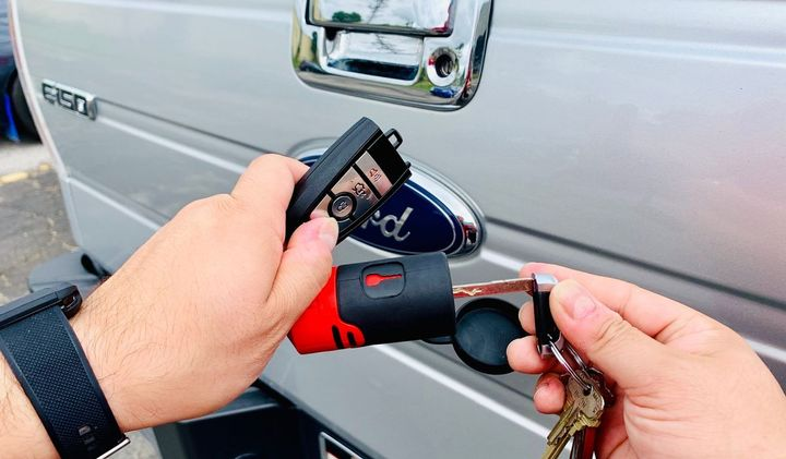 The Bolt Lock technology works with the valet keys of the key fob vehicles.  - Photo: Bolt Lock