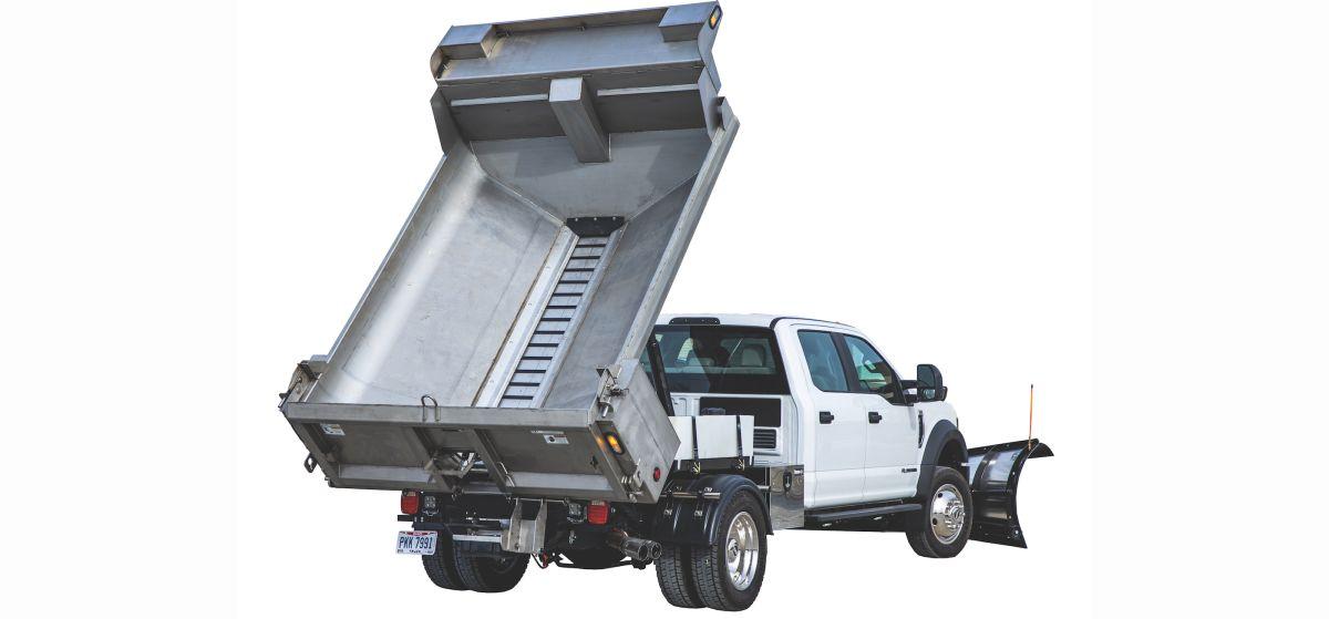 New SaltDogg Dump Spreader for Medium-Duty Trucks