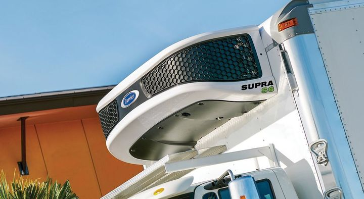 Designed for small- to medium-sized trucks, the Supra S6 unit is the first in a new series of diesel-powered truck units being rolled out by Carrier Transicold.  - Photo courtesy of Carrier Transicold.