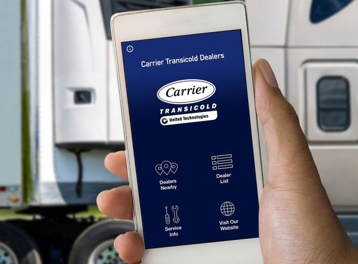 Carrier Transicold Dealers works on smartphones and tablets using Google's Android and Apple Inc.'s iOS operating systems  - PHOTO: Carrier Transicold
