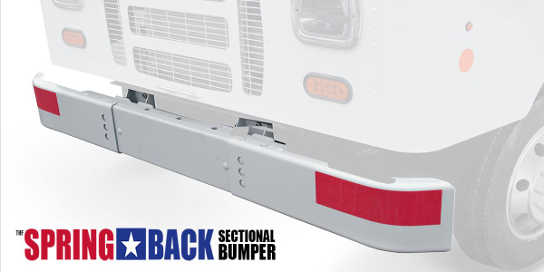 "If damaged, the new ""Spring-Back"" bumper only needs one smaller section of the bumper to be..."