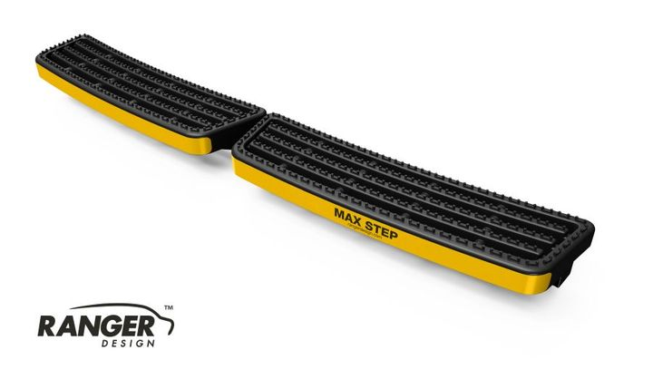 Ranger Design's Maz Step is a van step that is built to provide a rugged grip and provide easier access to van cargo.  - Photo courtesy of Ranger Design