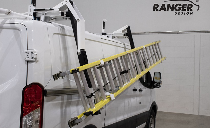 The Max Rack 2.0 eliminates the need for users to stand below the ladder while it lowersdue to single stage drop, according to the company. - Photo courtesy of Ranger Design.