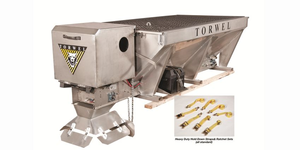 Made in the USA, Torwel's improved Economizer gas-over-hydraulic V-box spreaders are lightweight...