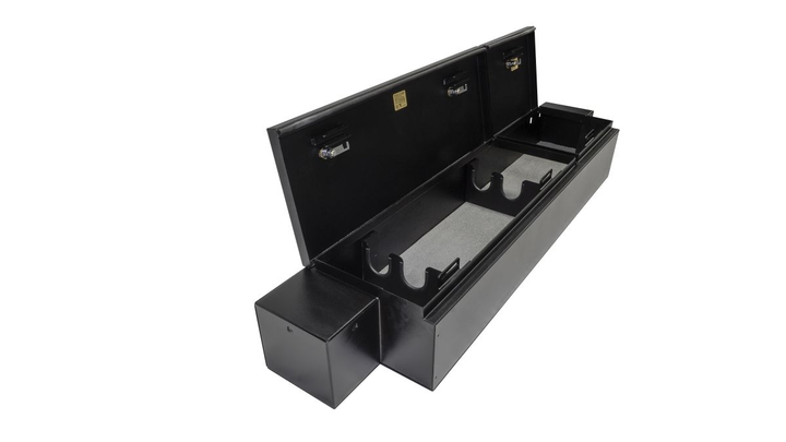 Offering more than 3,000 cubic inches of lockable storage, the Model 353 features a full-width formfitting design which is completely concealed from view when the seats are lowered.