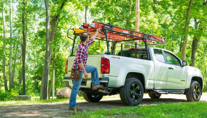 With a no-drill easy install, the new Compact Steel Truck rack (Model 1345-52-02) can be installed in less than an hour.  - Photo courtesy of Weather Guard