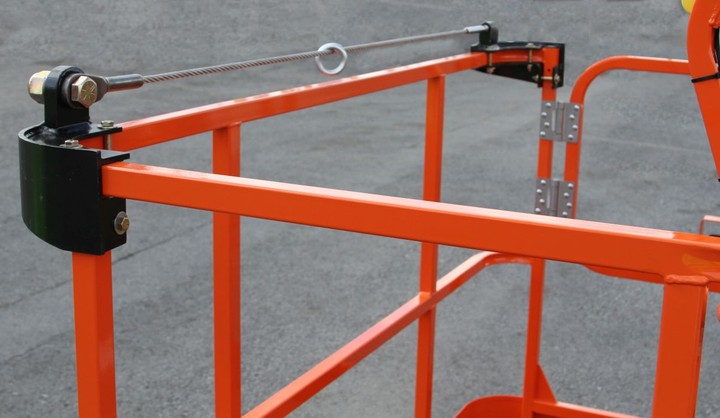 The bolt-in system can be added to existing work platforms.