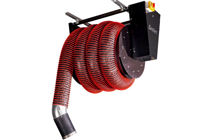 The motorized hose reel system is custom designed for each maintenance facility according to...