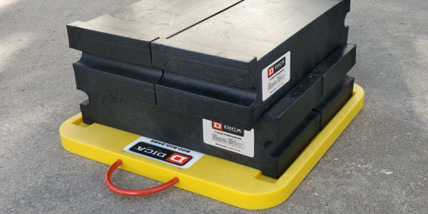 Slot Lock Cribbing Blocks are designed to stack and lock together for added height.