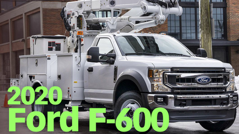 The 2020 F-600 fills a slot between the F-550 and F-650 in terms of size and capability.