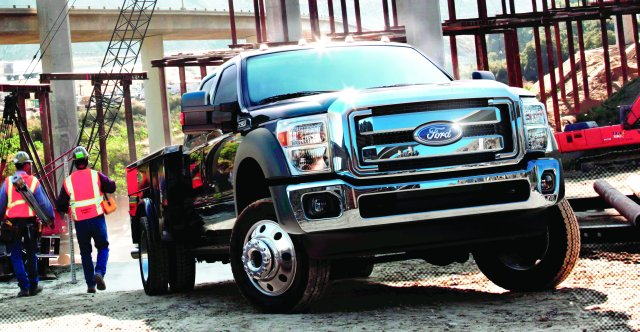 Clark County, Wash.'s fleet of Ford F-550 models (similar to above) improved routing for fuel gains. (PHOTO: Ford Motor Co.) -