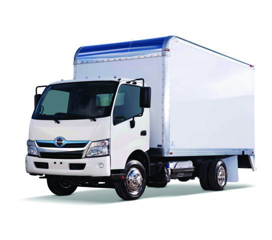 The 2012 Hino 155 box truck is one of many box truck options. When spec'ing a box truck for fleet, ensure the chassis won't be overloaded once products or materials are loaded.  - Image courtesy of Hino