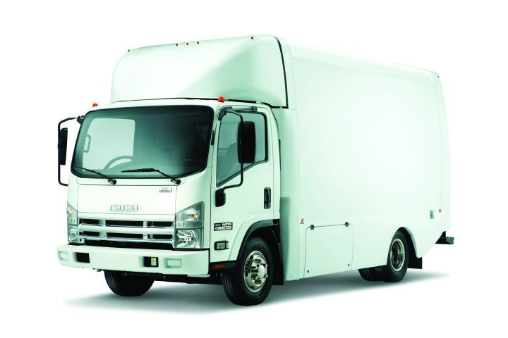 Isuzu Commercial Truck of America also offers a box truck version of its popular NPR series.  - Image courtesy of ICTA