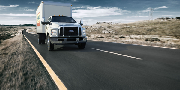 Box truck versions of the F-650/F-750 are among the vocational upfits available for fleets....
