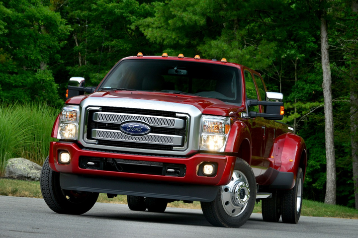 ROUSH CleanTech can retrofit propane-autogas medium-duty vehicles, including the Ford F-450 (pictured). -