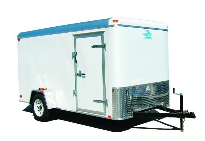 If a vehicle will be hauling cargo that requires protection from the elements, an enclosed trailer should be selected.  - Photo courtesy of Cargotrailerstore.com
