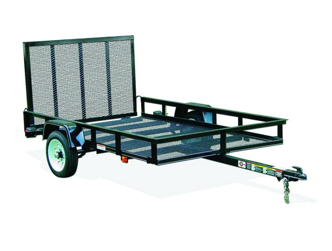 An open trailer is good for hauling materials that do not require protection from the elements, or for items that do not fit in the space constrictions of an enclosed trailer.