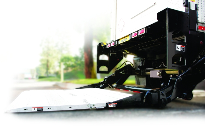 When spec'ing liftgates, ensure there is a large enough platform surface to work from. Check the size of materials or pallets that will be loaded.