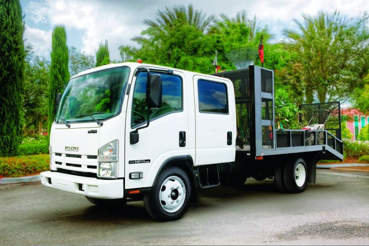 While both types of chassis can be used for delivery applications, each offers its own set of strengths and limitations. The question is: Which type - cab-forward or van cutaway - would work best for a delivery fleet?  - Photo courtesy of Isuzu Commercial Truck of America