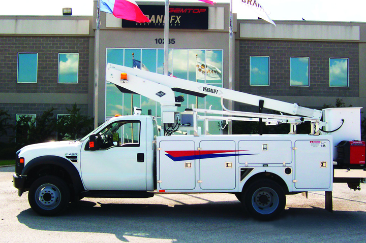 Steel and fiberglass service bodies offer rugged compartments and allow for mounting heavy equipment, such as cranes.  -