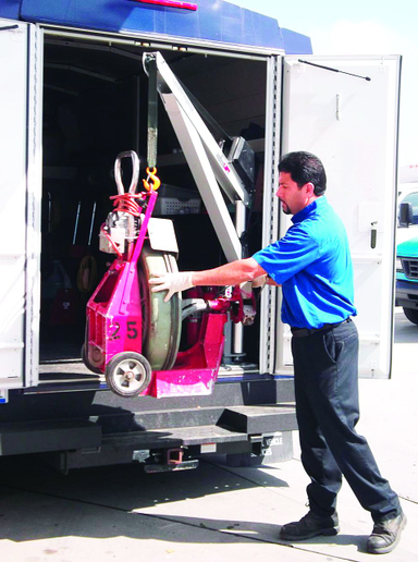 ARS' SpitzLift units have helped employees avoid injuries and become more efficient when making service calls. -