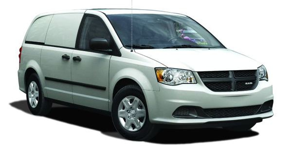 The all-new Ram cargo van.