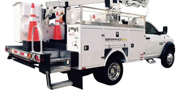The BrandFX composite aerial body is one solution they provide for aerial trucks used by the...
