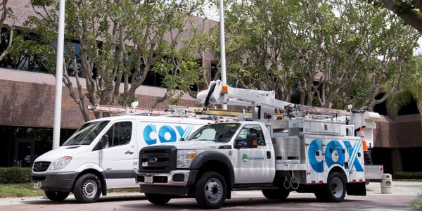 Cox Enterprises fleet vehicles are mainly used for cable installation, service, and sales, with...