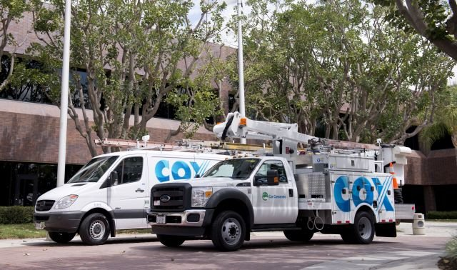 Cox Enterprises fleet vehicles are mainly used for cable installation, service, and sales, with each unit traveling approximately 18,000 miles annually. (PHOTO: COX ENTERPRISES) -