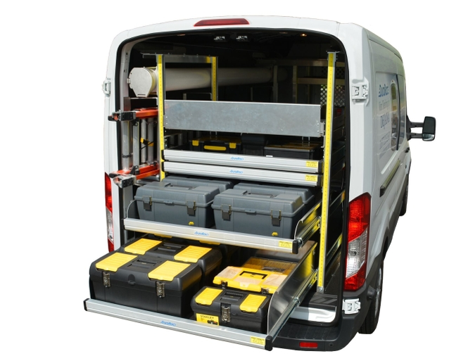With a pull-out shelf, such as the Katerack or Durarac, Dejana provides drivers with a lightweight option for easy access to their tools and equipment. (PHOTO: Dejana) -