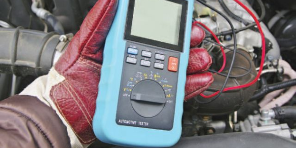 Using a voltmeter ormultimeter (pictured) isnecessary for checkinga battery's charge. (Photo:...